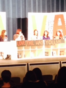 "Panel "" Love the Way You Lie""  L-R (Marie Rutkoski, Rachel Hawkins, Maggie Hall, Martina Boone, and Melissa Marr)"